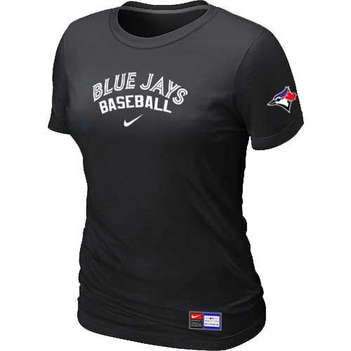 MLB Women's Toronto Blue Jays Nike Practice T-Shirt - Black