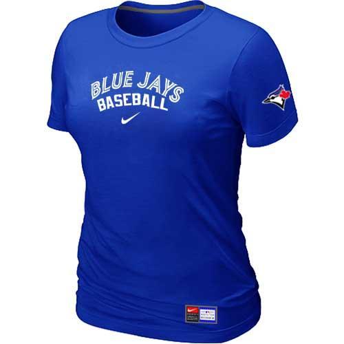MLB Women's Toronto Blue Jays Nike Practice T-Shirt - Blue