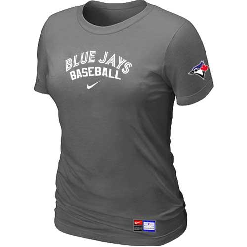 MLB Women's Toronto Blue Jays Nike Practice T-Shirt - Dark Grey