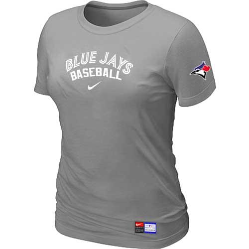 MLB Women's Toronto Blue Jays Nike Practice T-Shirt - Grey