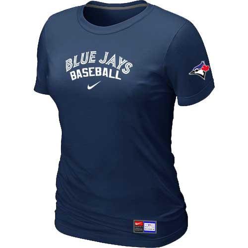 MLB Women's Toronto Blue Jays Nike Practice T-Shirt - Navy