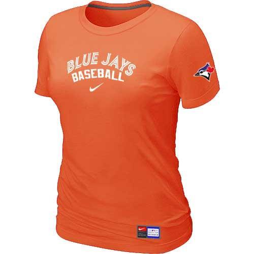 MLB Women's Toronto Blue Jays Nike Practice T-Shirt - Orange