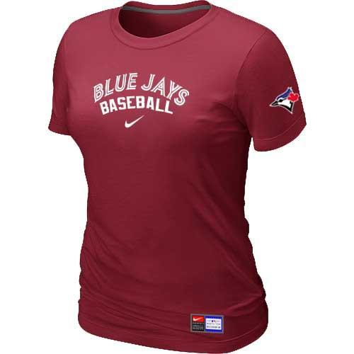 MLB Women's Toronto Blue Jays Nike Practice T-Shirt - Red