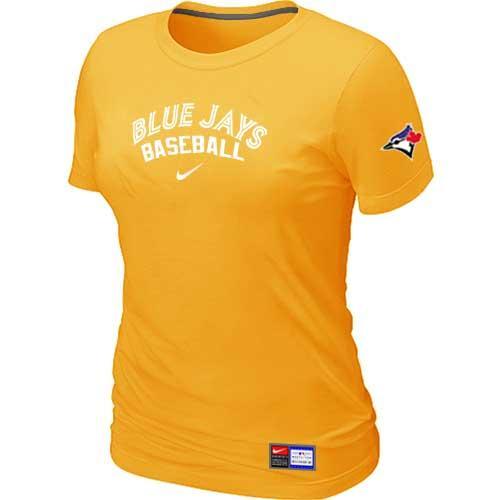 MLB Women's Toronto Blue Jays Nike Practice T-Shirt - Yellow
